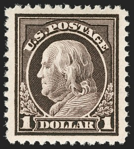 Sale Number 1179, Lot Number 2406, 1916-23 Issues (Scott 462-524)$1.00 Violet Brown (518), $1.00 Violet Brown (518)