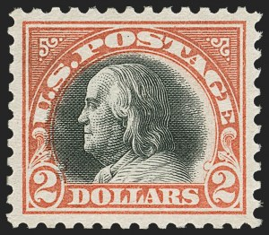 Sale Number 1179, Lot Number 2410, 1916-23 Issues (Scott 462-524)$2.00 Orange Red & Black (523), $2.00 Orange Red & Black (523)