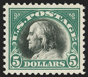 Sale Number 1179, Lot Number 2411, 1916-23 Issues (Scott 462-524)$5.00 Deep Green & Black (524), $5.00 Deep Green & Black (524)