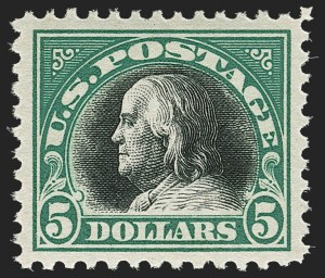 Sale Number 1179, Lot Number 2412, 1916-23 Issues (Scott 462-524)$5.00 Deep Green & Black (524), $5.00 Deep Green & Black (524)