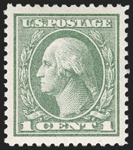 Sale Number 1179, Lot Number 2423, 1918-20 Issues (Scott 525-547)1c Gray Green (536), 1c Gray Green (536)