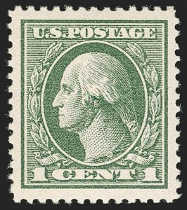 Sale Number 1179, Lot Number 2424, 1918-20 Issues (Scott 525-547)1c Gray Green (536), 1c Gray Green (536)