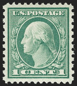 Sale Number 1179, Lot Number 2425, 1918-20 Issues (Scott 525-547)1c Green, Rotary Perf 11 x 10 (538), 1c Green, Rotary Perf 11 x 10 (538)