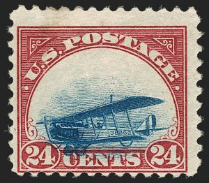 Sale Number 1179, Lot Number 2458, Air Post (C1-C12)24c Carmine Rose & Blue, 1918 Air Post, Grounded Plane Variety (C3 var), 24c Carmine Rose & Blue, 1918 Air Post, Grounded Plane Variety (C3 var)