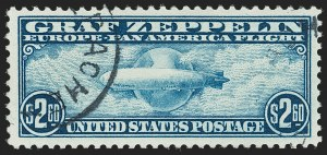 Sale Number 1179, Lot Number 2499, Air Post: Graf Zeppelin Issue (C13-C15)$2.60 Graf Zeppelin (C15), $2.60 Graf Zeppelin (C15)