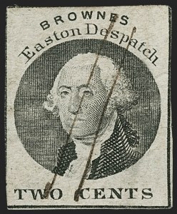 Sale Number 1179, Lot Number 2612, Carriers and Locals: Local PostsBrowne's Easton Despatch, Easton Pa., 2c Black (30L3), Browne's Easton Despatch, Easton Pa., 2c Black (30L3)