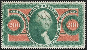 Sale Number 1179, Lot Number 2690, Revenues: First Issue, cont.$200.00 U.S.I.R., Perforated (R102c), $200.00 U.S.I.R., Perforated (R102c)