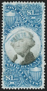 Sale Number 1179, Lot Number 2693, Revenues: Second and Third Issues$1.30 Blue & Black, Second Issue (R119), $1.30 Blue & Black, Second Issue (R119)
