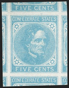 Sale Number 1179, Lot Number 2747, Confederate States5c Light Blue, De La Rue (6), 5c Light Blue, De La Rue (6)