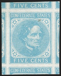 Sale Number 1179, Lot Number 2748, Confederate States5c Light Blue, De La Rue (6), 5c Light Blue, De La Rue (6)