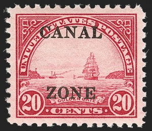 Sale Number 1179, Lot Number 2773, U.S. Possessions: Canal ZoneCANAL ZONE, 1926, 20c Carmine Rose (92), CANAL ZONE, 1926, 20c Carmine Rose (92)