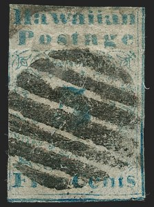 Sale Number 1179, Lot Number 2780, U.S. Possessions: Hawaii, Missionaries thru Kamehameha III IssuesHAWAII, 1851, 5c Blue (2), HAWAII, 1851, 5c Blue (2)