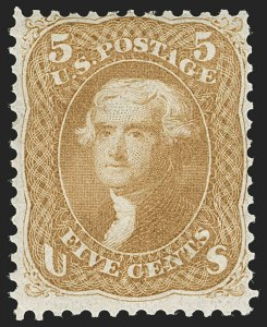 Sale Number 1180, Lot Number 112, 1861-66 Issue (Scott 63-78)5c Buff (67), 5c Buff (67)