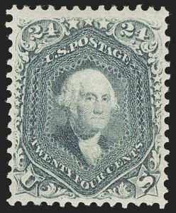 Sale Number 1180, Lot Number 119, 1861-66 Issue (Scott 63-78)24c Steel Blue (70b), 24c Steel Blue (70b)