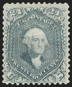 Sale Number 1180, Lot Number 120, 1861-66 Issue (Scott 63-78)24c Steel Blue (70b), 24c Steel Blue (70b)
