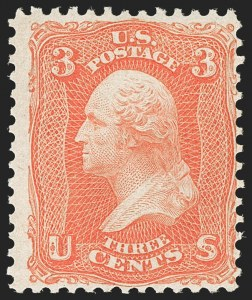 Sale Number 1180, Lot Number 124, 1861-66 Issue (Scott 63-78)3c Scarlet (74), 3c Scarlet (74)