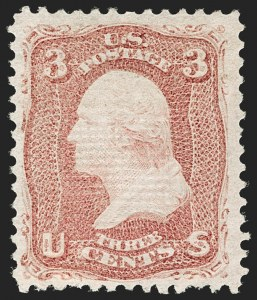 Sale Number 1180, Lot Number 135, 1867-68 Grilled Issue (Scott 79-101)3c Rose, Z. Grill (85C), 3c Rose, Z. Grill (85C)