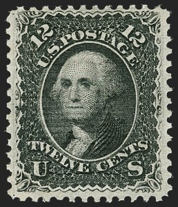 Sale Number 1180, Lot Number 136, 1867-68 Grilled Issue (Scott 79-101)12c Black, Z. Grill (85E), 12c Black, Z. Grill (85E)