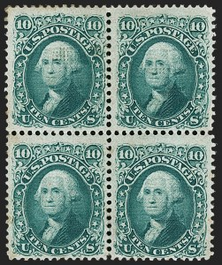 Sale Number 1180, Lot Number 144, 1867-68 Grilled Issue (Scott 79-101)10c Yellow Green, F. Grill (96), 10c Yellow Green, F. Grill (96)