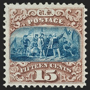 Sale Number 1180, Lot Number 172, 1869 Pictorial Issue, Without Grill and With Grill (Scott 112-122)15c Brown & Blue, Ty. I (118), 15c Brown & Blue, Ty. I (118)