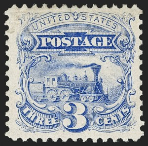 Sale Number 1180, Lot Number 181, 1875 Re-Issue of 1869 Pictorial Issue (Scott 123-133a)3c Blue, Re-Issue (125), 3c Blue, Re-Issue (125)