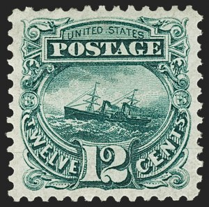 Sale Number 1180, Lot Number 184, 1875 Re-Issue of 1869 Pictorial Issue (Scott 123-133a)12c Green, Re-Issue (128), 12c Green, Re-Issue (128)