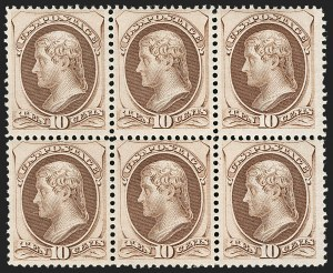 Sale Number 1180, Lot Number 195, 1870-71 National Bank Note Co. Grilled Issue (Scott 134-144)10c Brown, H. Grill (139), 10c Brown, H. Grill (139)
