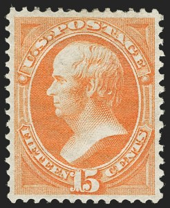 Sale Number 1180, Lot Number 197, 1870-71 National Bank Note Co. Grilled Issue (Scott 134-144)15c Orange, H. Grill (141), 15c Orange, H. Grill (141)