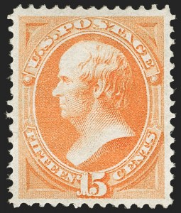 Sale Number 1180, Lot Number 204, 1870-71 National Bank Note Co. Ungrilled Issue (Scott 145-155)15c Bright Orange (152), 15c Bright Orange (152)