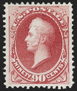 Sale Number 1180, Lot Number 207, 1870-71 National Bank Note Co. Ungrilled Issue (Scott 145-155)90c Carmine (155), 90c Carmine (155)