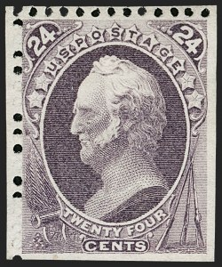 Sale Number 1180, Lot Number 230, 1875 Continental Bank Note Co. Hard Paper Special Printing (Scott 167-177, 180-181)24c Dull Purple, Special Printing (175), 24c Dull Purple, Special Printing (175)