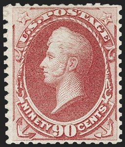 Sale Number 1180, Lot Number 232, 1875 Continental Bank Note Co. Hard Paper Special Printing (Scott 167-177, 180-181)90c Violet Carmine, Special Printing (177), 90c Violet Carmine, Special Printing (177)