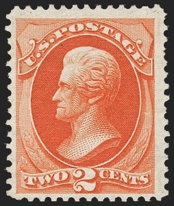 Sale Number 1180, Lot Number 233, 1875 Continental Bank Note Co. Hard Paper Special Printing (Scott 167-177, 180-181)2c Carmine Vermilion, Special Printing (180), 2c Carmine Vermilion, Special Printing (180)