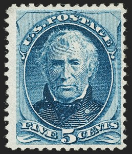 Sale Number 1180, Lot Number 234, 1875 Continental Bank Note Co. Hard Paper Special Printing (Scott 167-177, 180-181)5c Bright Blue, Special Printing (181), 5c Bright Blue, Special Printing (181)