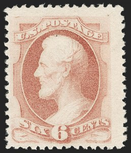 Sale Number 1180, Lot Number 244, 1880-83 American Bank Note Co. Soft Paper Special Printing (Scott 192-205C, 211D)6c Dull Rose, Special Printing (195), 6c Dull Rose, Special Printing (195)