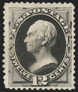 Sale Number 1180, Lot Number 247, 1880-83 American Bank Note Co. Soft Paper Special Printing (Scott 192-205C, 211D)12c Blackish Purple, Special Printing (198), 12c Blackish Purple, Special Printing (198)