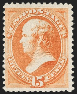 Sale Number 1180, Lot Number 248, 1880-83 American Bank Note Co. Soft Paper Special Printing (Scott 192-205C, 211D)15c Orange, Special Printing (199), 15c Orange, Special Printing (199)