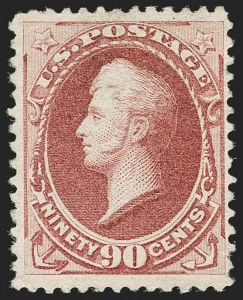 Sale Number 1180, Lot Number 251, 1880-83 American Bank Note Co. Soft Paper Special Printing (Scott 192-205C, 211D)90c Dull Carmine, Special Printing (202), 90c Dull Carmine, Special Printing (202)