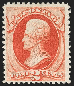 Sale Number 1180, Lot Number 252, 1880-83 American Bank Note Co. Soft Paper Special Printing (Scott 192-205C, 211D)2c Scarlet Vermilion, Special Printing (203), 2c Scarlet Vermilion, Special Printing (203)