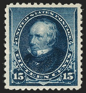 Sale Number 1180, Lot Number 261, 1890-93 Issue (Scott 219-229)15c Indigo (227), 15c Indigo (227)