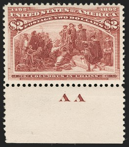 Sale Number 1180, Lot Number 275, 1893 Columbian Issue (Scott 230-245)$2.00 Columbian (242), $2.00 Columbian (242)