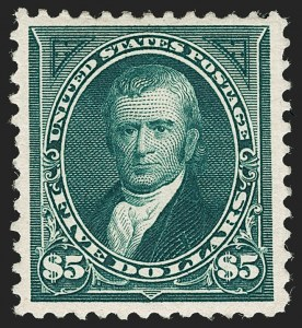 Sale Number 1180, Lot Number 286, 1894-98 Bureau Issues (Scott 246-282C)$5.00 Dark Green (263), $5.00 Dark Green (263)