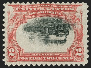 Sale Number 1180, Lot Number 297, 1901 Pan-American Issue, Inverts (Scott 294a, 295a, 296a)2c Pan-American, Center Inverted (295a), 2c Pan-American, Center Inverted (295a)