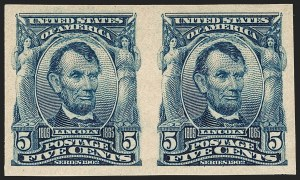 Sale Number 1180, Lot Number 309, 1902-08 Issues (Scott 300-322)5c Blue, Imperforate (315), 5c Blue, Imperforate (315)