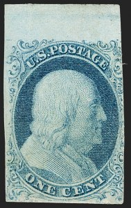 Sale Number 1180, Lot Number 31, 1851-56 Issue (Scott 5-17)1c Blue, Ty. I (5), 1c Blue, Ty. I (5)