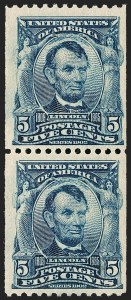 Sale Number 1180, Lot Number 311, 1902-08 Issues (Scott 300-322)5c Blue, Coil (317), 5c Blue, Coil (317)
