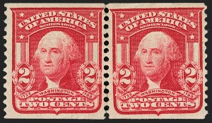 Sale Number 1180, Lot Number 313, 1902-08 Issues (Scott 300-322)2c Carmine, Coil (322), 2c Carmine, Coil (322)