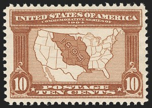 Sale Number 1180, Lot Number 314, 1904 Louisiana Purchase Issue (Scott 323-327)10c Louisiana Purchase (327), 10c Louisiana Purchase (327)