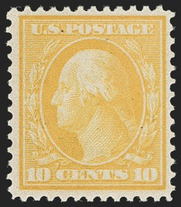 Sale Number 1180, Lot Number 328, 1909 Bluish Paper Issue (Scott 357-366)10c Yellow, Bluish (364), 10c Yellow, Bluish (364)