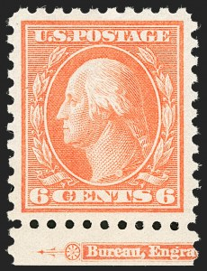 Sale Number 1180, Lot Number 347, 1912-15 Washington-Franklin Issues (Scott 405-461)6c Red Orange (429), 6c Red Orange (429)
